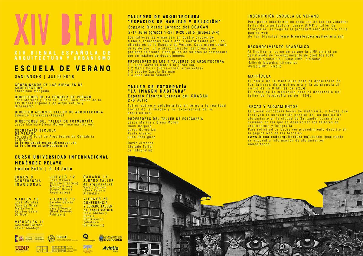 XIV BEAU - programa Escuela de Verano