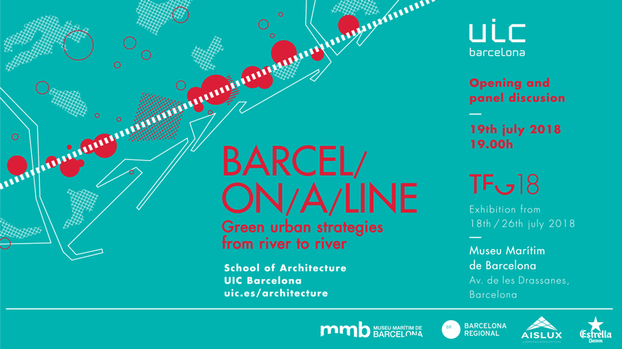 Inauguración de la exposición Barcel/on/a/line. Green urban strategies from river to river